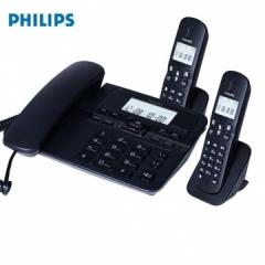飞利浦DCTG188数字无绳电话机办公家用座机电话子母机免提通话/一键拨号/DCTG188一拖二(黑色) IT.1297