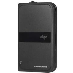 爱国者(aigo)1TB USB3.0 移动硬盘 HD816 黑色 多功能无线移动硬盘  PJ.730