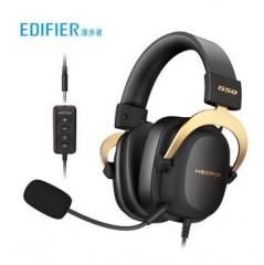 漫步者(EDIFIER) HECATE G50专业赛事级头戴式游戏耳机 3.5/USB7.1声道吃鸡耳麦 电脑音乐降噪麦克风 黑金色 PJ.739