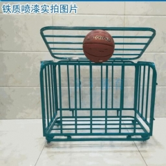 篮球推车移动折叠不锈钢球车幼儿园篮球足球收纳筐 TY.1321