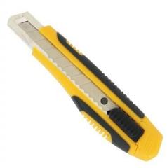 得力 2047 美工刀 加大号切割刀 裁纸刀 手工刀18mm(黄色) BG.536
