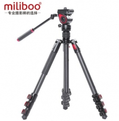 miliboo米泊MUFB-BK碳纤维液压阻尼轻型专业摄影摄像三脚架 ZX.470