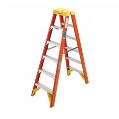 稳耐(werner)T6207CN 玻璃钢工程梯子双侧折叠人字梯2.1米 工程绝缘梯七步工业梯 JC.1558