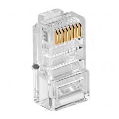 一舟 超五类网络非屏蔽水晶头 RJ45 100个/盒 WL.807