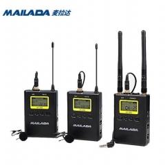 麦拉达(mailada) 小蜜蜂无线麦克风领夹式专业摄像机收音单反采访手机直播无线话筒一拖二 WM9S领夹式麦克风 IT.1369