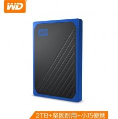 西部数据(WD) 2TB USB3.0 移动固态硬盘(PSSD)My Passport Go 钴蓝色 坚固耐用 小巧便携 兼容Mac WDBMCG0020BBT PJ.760
