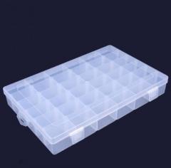 柯锐迩 零件盒元件盒36格 透明小格子塑料收纳盒 QJ.500