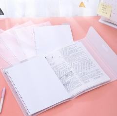 得力(deli)A3/20页活页试卷资料册 插袋文件夹 图稿收纳册试卷册 72612白 BG.560