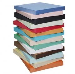 易利丰 封面纸a4 彩色皮纹纸 160克厚硬彩色卡纸 浅蓝色100张 JX.245