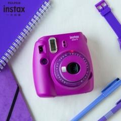 富士instax立拍立得 一次成像相机 mini9 (mini8升级款) 葡萄紫 ZX.479
