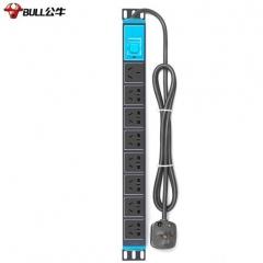 公牛 GNE-108D 总控开关 PDU机柜8位插座排插 1.8米电源线16A JC.1585