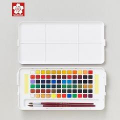 樱花(SAKURA)固体水彩颜料72色套装 NCW-72C 荷兰泰伦斯便携透明水彩 写生学生绘画用品 JX.247