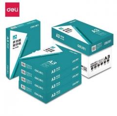 得力(deli)7390 复印纸 A3 70G 500页/包 5包/箱(绿色)BG.574