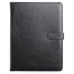 晨好 商务活页皮面本磁性搭扣记事本 100克道林纸 黑色 B5071S B5 9孔磁扣 BG.577