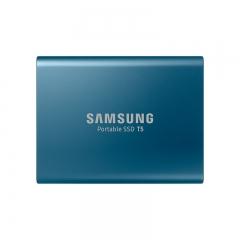 三星(SAMSUNG) 500GB Type-c USB 3.1 移动固态硬盘(PSSD) T5 蓝色 传输速度540MB/s 安全便携 PJ.788