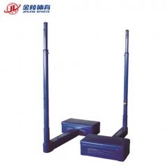 金陵体育 排球移动网架 简易配重式排球柱钢管 含网及钢丝绳PPZ-5 TY.1351
