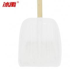 冰禹 BYJZ-3735 农用工具塑料锹 除雪铲 推雪板 扫雪锹 除雪工具 小号 白色 长390mm 宽330mm 含柄 JC.1602