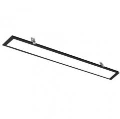 薄嵌入式led长条灯 办公室吊顶灯 暗装平板灯 白色1200x300白光(48W) JC.1610
