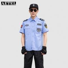 AETEL 保安工作服套装男女夏季 蓝夏短套装 JC.1613