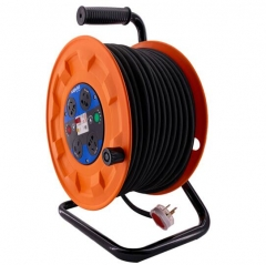 锴达 KATA 移动电缆盘4位50米3*2.5平方电线卷线盘绕线盘 电源卷盘线轴过热保护线缆盘220V10-16A KT82208 JC.1628