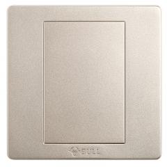 公牛(BULL) 开关插座 G07系列 防溅盒面板白板 86型面板G07B101(U6) 香槟金 暗装