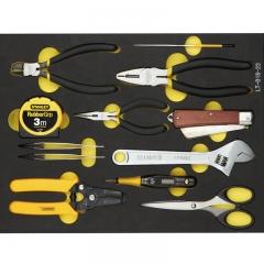 史丹利 (STANLEY) 12件套电子电工工具托套装剥线钳刀扳手组合套装  LT-018-23