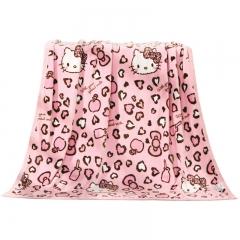 水星家纺 毛毯 毛巾被法兰绒毯子夏季空调毯盖毯办公室午睡毯儿童宝宝四季保暖毯被床单 摩登KT 180×200cm