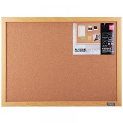 得力(deli)8761 40*30cm软木板墙/留言板/家用记事板/照片墙板(木边框、针插留言)