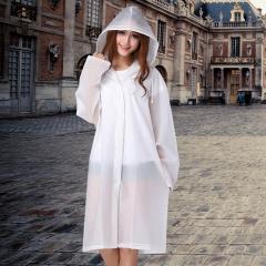 加加林 成人雨衣 半透明非一次性雨衣潮雨披女士男士通用磨砂颜色随机