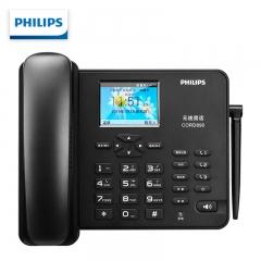 飞利浦(PHILIPS)无线插卡座机/全网通4G网络/录音电话机 兼容手机卡 WiFi 彩屏 办公家用 CORD890 黑色