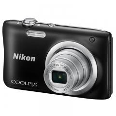 尼康(NIKON) Coolpix A100 便携数码相机(2005万像素 2.7英寸屏 5倍光学变焦 26mm广角)黑色