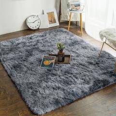 富居 地毯 加柔长绒客厅地毯地垫 茶几卧室地毯防滑地垫 140*200cm 灰色