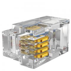 山泽(SAMZHE)4P4C高品质电话水晶头 语音电话线接头 电话语音水晶头 50个 SJ-3450