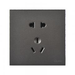西蒙(SIMON) 开关插座面板 E6系列 五孔插座 86型面板 荧光灰色 721084-61