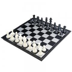 友邦(UB) 国际象棋黑白色磁性可折叠便携培训教学用棋 3810B-C(中号)