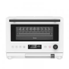 美的 Midea PG2310 微蒸烤一体机 家用三合一电蒸电烤箱 变频大火力 立体烘烤 304不锈钢菱面内胆 23L微波炉