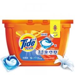 汰渍 Tide 3合1洗衣凝珠(洁雅茉莉)18颗/盒 洗衣球 非洗衣液