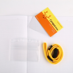 日本国誉(KOKUYO)Campus Kids儿童学生ID卡证件卡软壳胸卡挂牌吊牌56*91mm 鹿WSG-NFK21-4