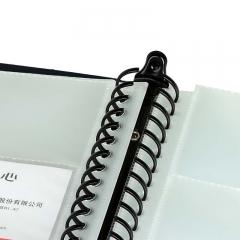 齐心(Comix) SC600 大容量活页名片册 二段十格 600枚 黑色