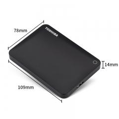 东芝(TOSHIBA) 2TB USB3.0 移动硬盘 V9系列 2.5英寸 兼容Mac 轻薄便携 密码保护 轻松备份 高速传输 经典黑