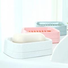 茶花 香皂盒肥皂盒子双层沥水网格卫生皂盘 2213