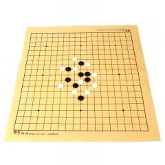 云子围棋B型五子棋围棋套装 新云南云子比赛专用围棋 楠竹棋罐皮革棋盘
