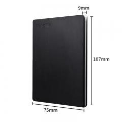 东芝(TOSHIBA) 1TB USB3.0 移动硬盘 Slim系列 2.5英寸 兼容Mac 金属超薄 密码保护 轻松备份 高速传输 黑色