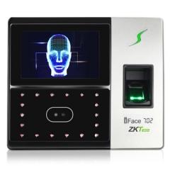 中控智慧(ZKTeco) iFace702 人脸指纹考勤机 高速识别打卡机 触屏操控门禁一体机
