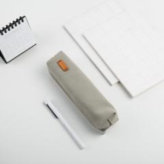 得力(deli)纯色仿鹿皮笔袋学生铅笔收纳袋 摩登灰66710