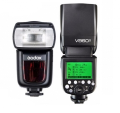 神牛(Godox)V860II-F 富士版热靴灯 无线外拍灯内置2.4G接收 TTL高速锂电机顶闪光灯