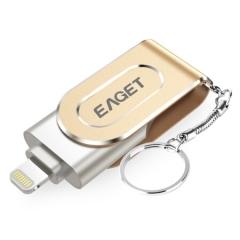 忆捷(EAGET) 64GB Lightning USB3.0 苹果U盘 i80指纹加密iphone/ipad轻松扩容手机电脑多用优盘