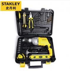 史丹利(Stanley)13毫米冲击钻手电钻家用多功能电动工具箱套装电转电批起子螺丝刀电动扳手STDH7213V