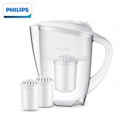 飞利浦(PHILIPS) wp2806 一壶三芯套装(含附件) 净水壶 家用滤水壶 净水器 净水杯 滤水杯