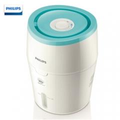 飞利浦(PHILIPS)加湿器 上加水 纳米无雾 静音办公室卧室家用空气加湿 HU4801/00(白色+浅绿色)